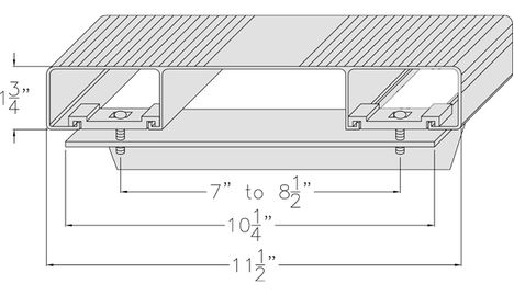 aluminum stairs diagram